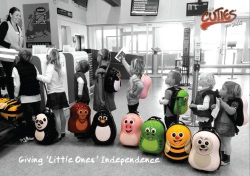 Juego de maleta y mochila para niños Cuties and Pals