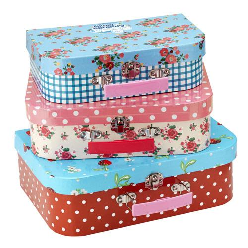Juego de maletas de cartón Amanda